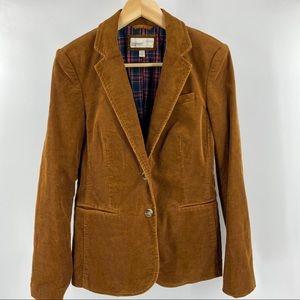 Vintage Esprit corduroy blazer with plaid lining